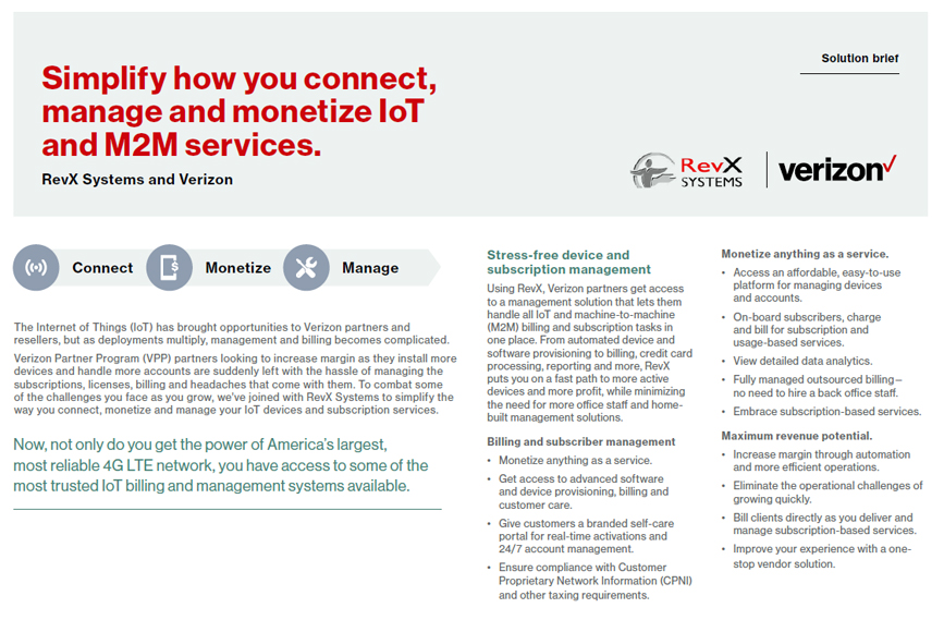 RevX | Verizon Solution Brief